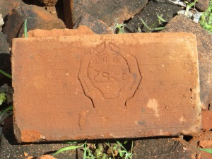 A face on a brick...