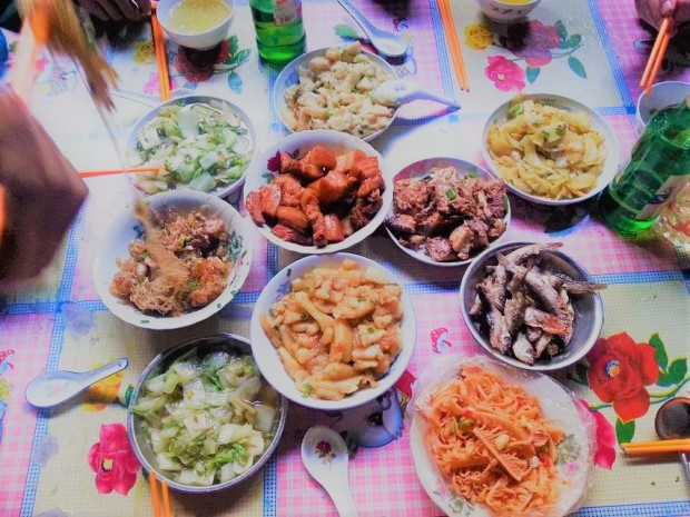 --- My auntie's dishes in my home village, 2015.12 | 老家婶婶的拿手菜